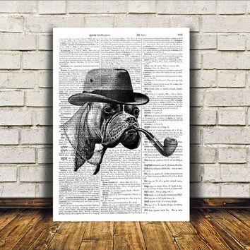 Dog poster Modern decor Boxer print Animal art RTA120
