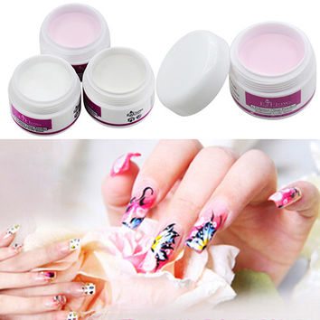 11.11 Sparkle Clear Transparent Color Acrylic Crystal Powder Nail Tips DIY Beauty Tool In Stock Fast Ship
