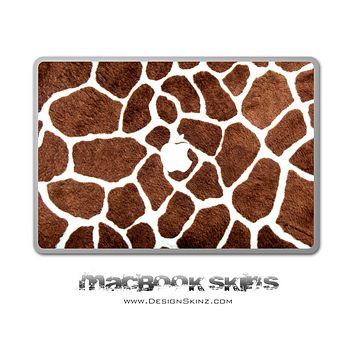 Real Giraffe Pattern MacBook Skin