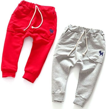 2-7Y Kids Harem Pants Toddlers Infants Baby Boy Girl Cotton Trousers Slacks