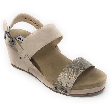Not Rated Revy Cream Wedge Sandals
