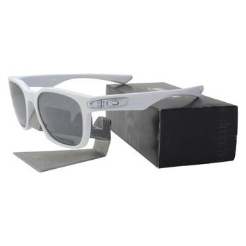 Oakley Custom POLARIZED GARAGE ROCK Polished White Black Iridium Mens Sunglasses