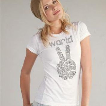 SALE World Peace on Women's SUPER soft Alternative by rctees
