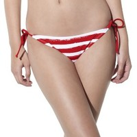 Xhilaration® Junior's Side Tie Swim Bottom -Stripe Print