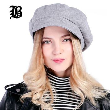 ONETOW Super warm High Quality Fashion Artist Wool Women Beret Hat For Women Cap Female