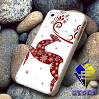 Red Reindeer white snow Design For iPhone Case Samsung Galaxy Case Ipad Case Ipod Case