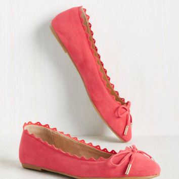 Recipe for Finesse Flat in Coral | Mod Retro Vintage Flats | ModCloth.com
