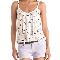 Draped Front Printed Tank: Charlotte Russe