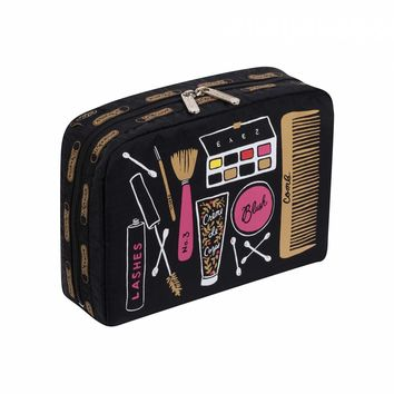 XL Rectangular Cosmetic Beauty Print by LeSportsac   Imported