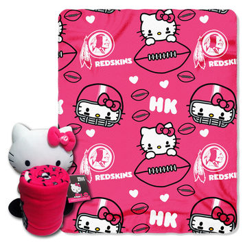 Redskins  40x50 Fleece Throw and Hello Kitty Character Pillow Set