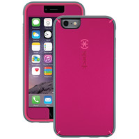 SPECK SPK-A3493 iPhone(R) 6 Plus/6s Plus MightyShell(TM) Case + Faceplate (Fuchsia Pink/Cupcake Pink/Heritage Gray)