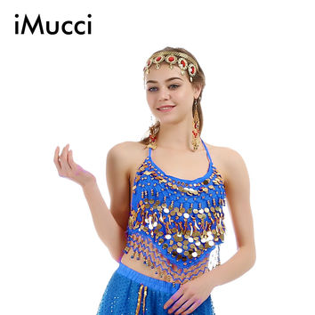 iMucci 5 Colors Little Pepper Sleeveless Child Girl Belly Dance Top 120D Chiffon Oriental Costumes India Dancing Cloth 105 Bra