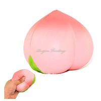 Hot Mobile Phone Strap Colossal 10CM Squishy Pink/White Peach Slow Rising Cream Scented Kids Toy Christmas Gift Holiday Present