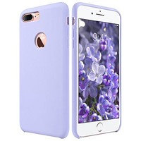 iPhone 7 Plus Case, ULAK [Silicone Slim] [Purple] - [Shock Absorbing] Liquid Silicone Gel Rubber Shockproof Case Cover with Soft Microfiber Cloth Lining Cushion for Apple iPhone 7 Plus 2016 Release