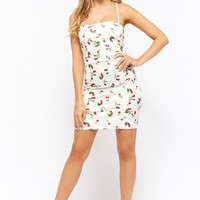 Oh My Love Lace-Up Cherry Dress