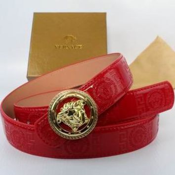 versace belt box. perfect versace woman men fashion smooth buckle belt leather bel box