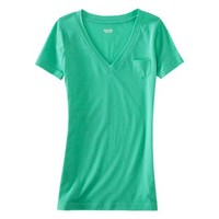 Mossimo Supply Co. Juniors Short Sleeve Pocket Vee Tee - Assorted Colors