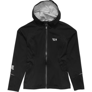 Mountain Hardwear Effusion Hooded Jacket - Women's Black,