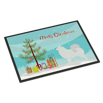 Samoyed Merry Christmas Tree Indoor or Outdoor Mat 24x36 BB2977JMAT