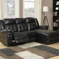 Sofa Lounger - Motion / Black Bonded Leather