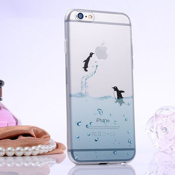 Cute Little Penguin TPU Case For   Apple iPhone 5 5s 6 6s Plus Gift