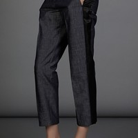 No.21 blue denim trousers
