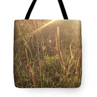 """Morning fields Tote Bag for Sale by Ivy Ho (18"""" x 18"""")"""