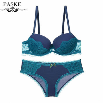 Newest Women Sexy Bra Sets Lace Embroidery Bra Push Up Bras Brief Sets 1/2 Cup Plus Size Bra Sets BS23