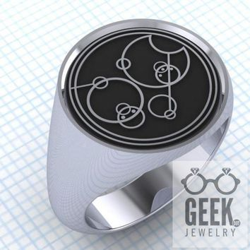 Say Who? Gallifreyan Custom Signet - Ladies