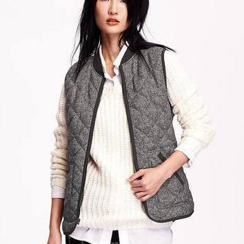 Old Navy Womens Quilted Herringbone Vest