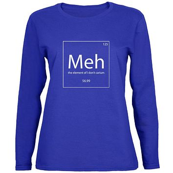 Meh Periodic Table Womens Long Sleeve T Shirt