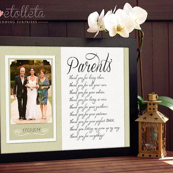 Wedding Gifts For Parents Of The Groom : ... gift Wedding, Gift for Parents of the Bride, Parents of the Groom gift