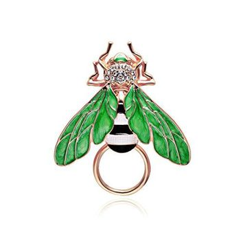 SENFAI Honey Bees Insect Wings Charm Bumble Bee Eyeglass Holder Brooch