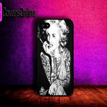 Tattooed Marilyn Monroe CUSTOM IPHONE CASE by icoversSHOP on Etsy