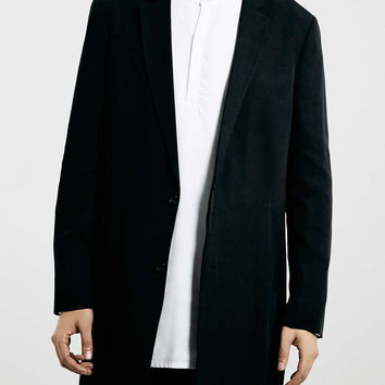 LUX BLACK DUSTER JACKET - Men's Jackets & Coats - Clothing