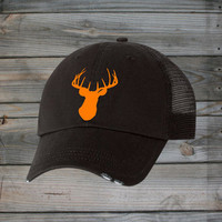 Country Girl ® Deer Head Orange Trucker Hat