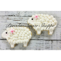 One Dozen Lamb / Sheep Cookies