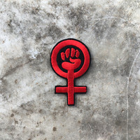 Feminism Symbol Embroidered Sew On Patch