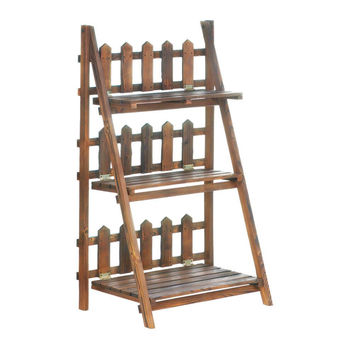 Picket Fence Shelf Plant Stand