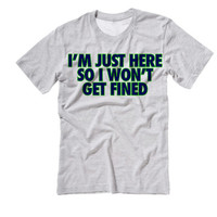 I'm Just Here So I Won't Get Fined Marshawn Lynch 24 Beast Mode | Seattle Seahawks Shirt | Marshawn Lynch