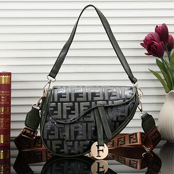 FENDI Women Fashion Leather Handbag Tote Shoulder Bag Crossbody Satchel