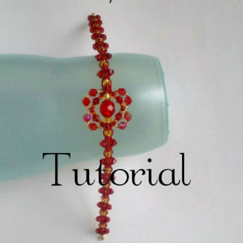"Tutorial for Macrame Bangle ""Napoleon"" Bracelet Pattern Beaded Macrame"