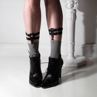 SWANclothing — Original Adjustable sock and thigh high garters. Standard grip.