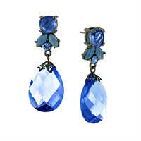 Antiquities Couture Collection by 1928 Jewelry - Sapphire Pearlized Briolette Drops
