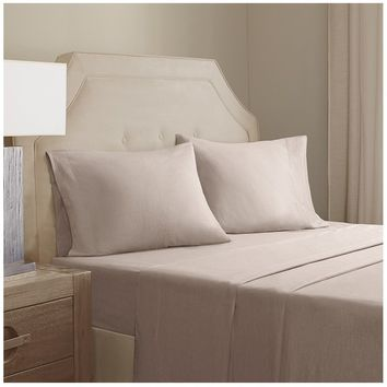 Arlo Tan Cotton Linen Sheet Set