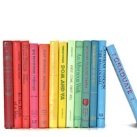 Colorful 13 Book Collection Fun interior Design Rainbow Vibrant Color Decor