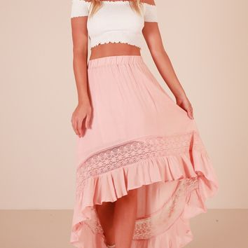 Keep My Secret skirt in blush Produced By SHOWPO