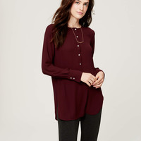 Collarless Henley Tunic