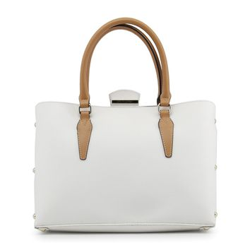 Blu Byblos White Leather Handbag