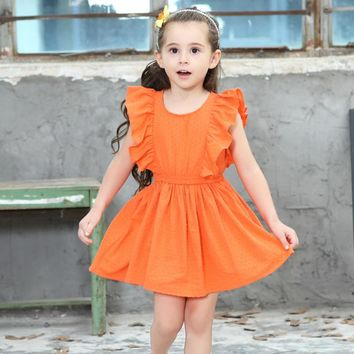 Girls Dress Cotton Princess Dresses For Girls Flying Sleeve Robe Fille Infant Girl Clothes Party Children Costume Kids Clothing